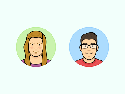 Friends & Family Vol. 2 portrait flat family friends people character icons vector illustration contact avatar