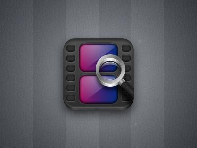 Movie app icon dark
