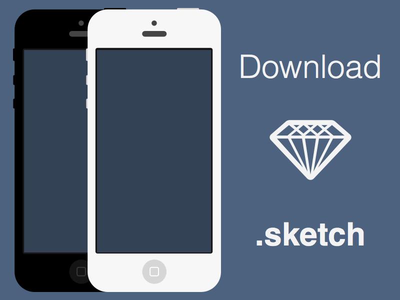 Flat iPhones [.sketch] iphone flat sketch freebie free download free