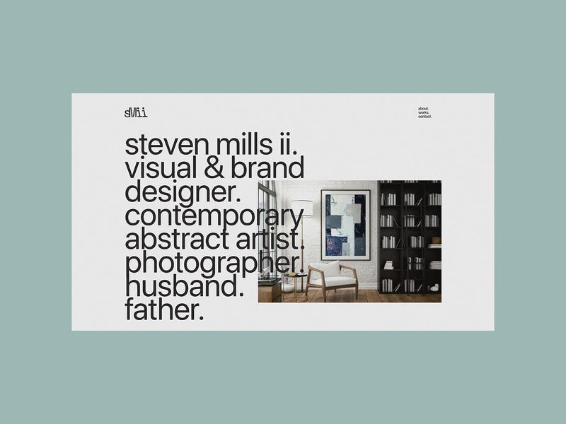 Portfolio Concept large typography figma visual design website design artist web design branding design brand typography minimal branding minimalist art direction design