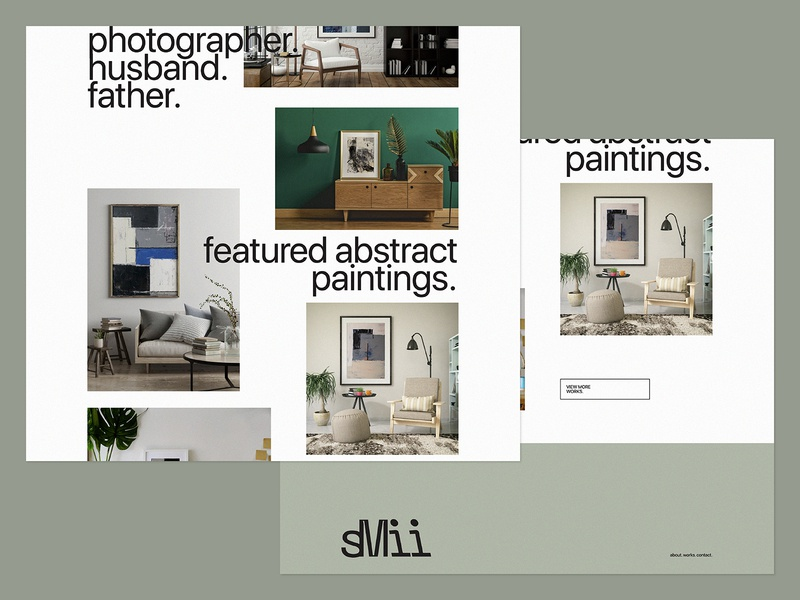 Portfolio Concept Cont. personal ux ui art website art paintings abstract paintings visual design typography branding minimalist art direction graphic design design artist website artist website portfolio concept