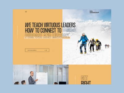 Leadership Website Concept uxui ui design ux design digital design mission purpose self help leadership training training leadership modern website modern design ui ux web design minimal art direction design