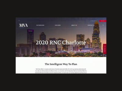 MVA RNC Webpage republican rnc politics political simple typography minimalist website design clean minimal ux ui interaction design web page website web design graphic design art direction design
