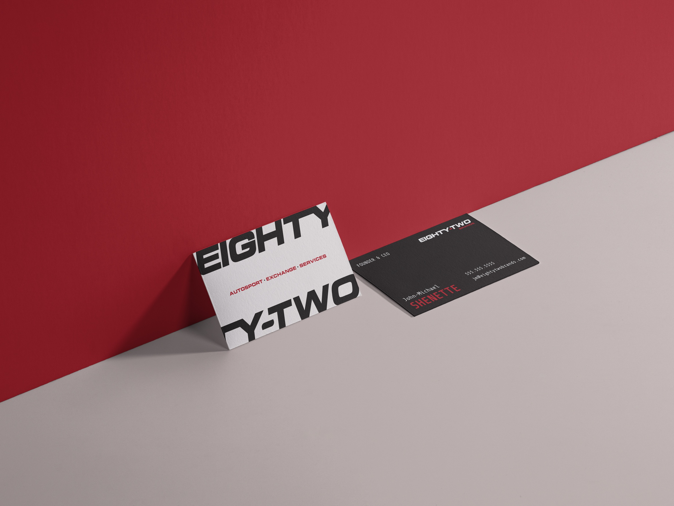 Eighty two bs card mockup dribbble
