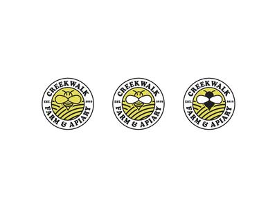 Rough Draft Logo thick lines line art variations badge bee apiary farm brand identity brand vector brand design minimal logo design logo branding minimalist art direction graphic design design