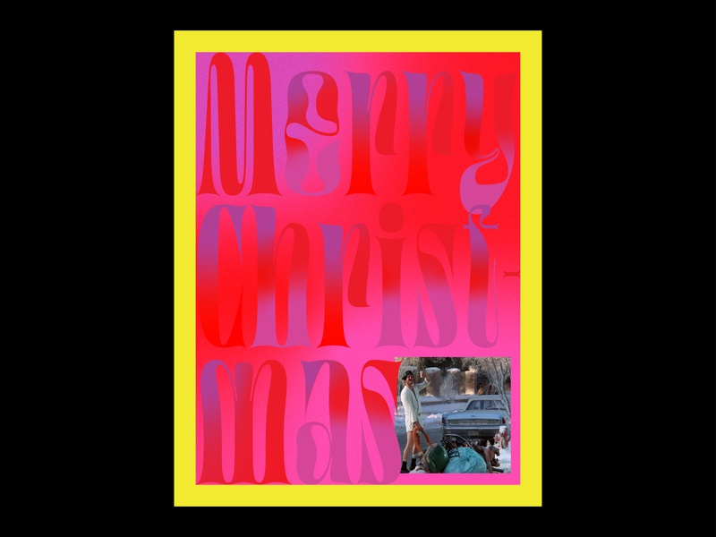 Festive Type Exploration typography poster typography art type exploration exploration merry uncle eddy gradient design graphic design art direction typographic poster typographic design typographic christmasvacation christmas holidays typography
