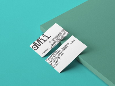 personal brand business card