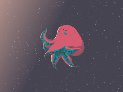 Do not go gentle into that good night octopus animal flat design celanimation cel animation aftereffects photoshop motiongraphics motiondesign mgcollective mdcommunity illustration after effect adobe aftereffects