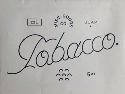 MGCO. Tobacco Soap?