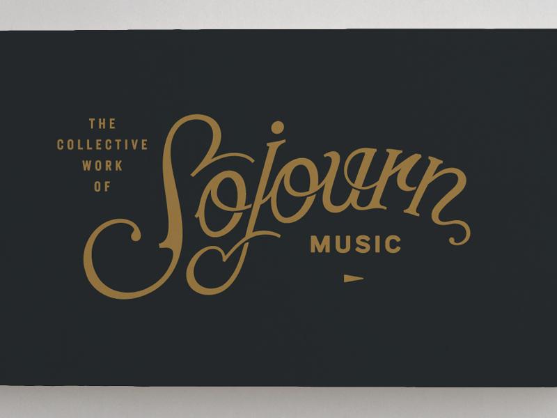 Sojourn Music typography script logo