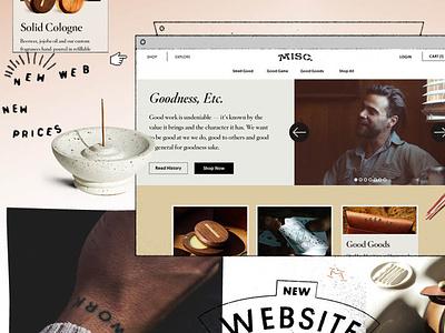 New Misc. Goods Site ecommerce retail website design web design website web