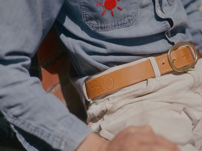 Moon is Down Leather Belt brass iconography icon leather