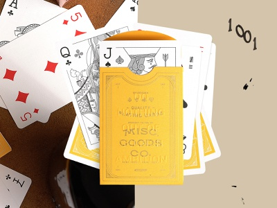 Sunrise Deck yellow design typography packaging playing cards illustration