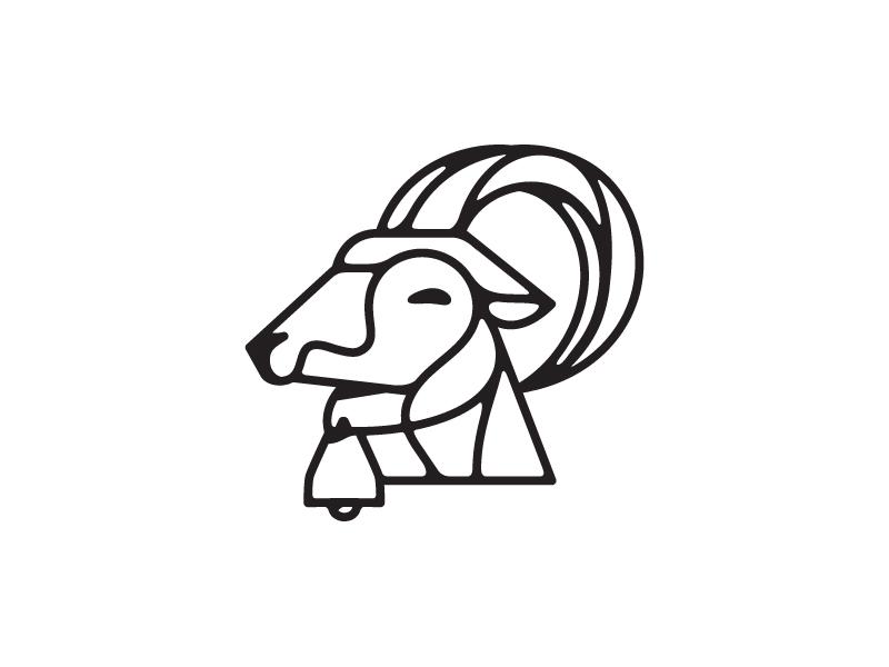 Bellweather logo mark illustration goat bell
