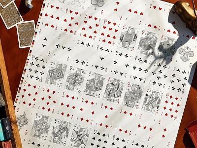 Uncut Card Sheet print playing cards