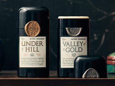 Design for New Kickstarter product packaging gold silver classic seal wax design label kickstarter deodorant