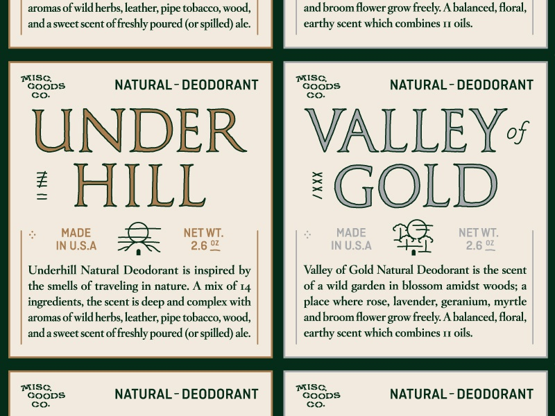 Deodorant Labels product packaging gold silver classic seal wax design kickstarter deodorant label