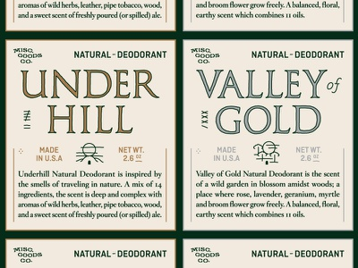 Deodorant Labels product packaging gold silver classic seal wax design kickstarter deodorant label