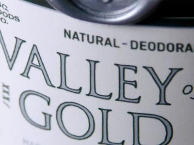 Deodorant Label product packaging gold silver classic seal wax design label kickstarter deodorant