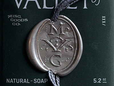 Soap 2 black silver pack design seal wax soap