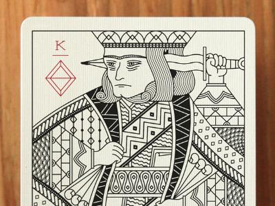 King of Diamonds playing cards illustration