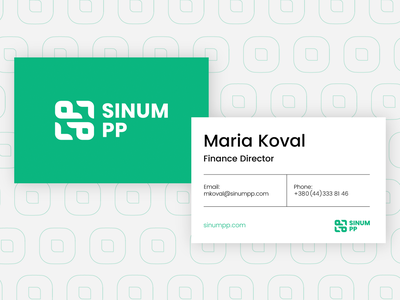 Business Cards. Sinum PP Simple Identity logotype business straws eco simple branding identity design 2020 cards card