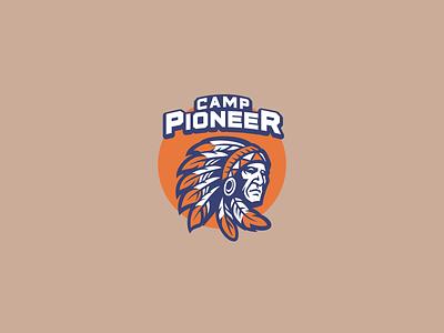 Camp Pioneer Logo brand design ukraine identity logo design logotype camp 2021 logo