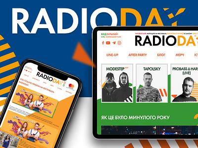 Radioday Music Festival branding 2019 user interface color iphone photoshop design ukraine mastercard pepsi music festival web design ux ui