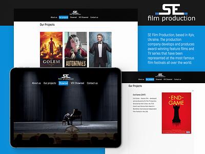 SE Film Producton Website web design poster 2019 world tv series company cinemagraph cinema ukraine production product film website