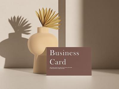 Business Card Mockup postcard greeting logo graphic design 3d design stationery realistic minimal sunlight overlay shadow print mockup branding identity business card print mockup