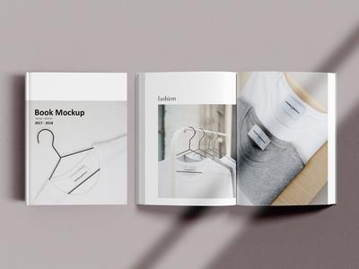 Book with shadow Mock-Ups
