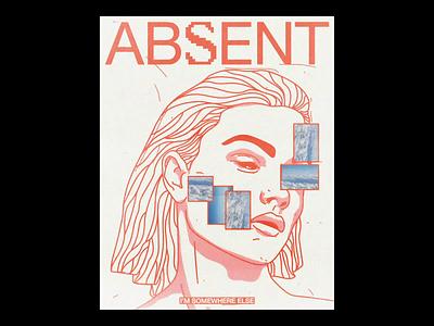 ABS͓̽ENT thumbnail face portrait noise glitch poster brutalism line red minimal illustration type typography graphic design