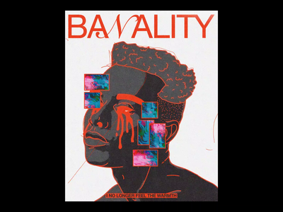 BA𝒩ALITY poster design motion ae poc blm banality poster brutalism line red minimal illustration type typography graphic design
