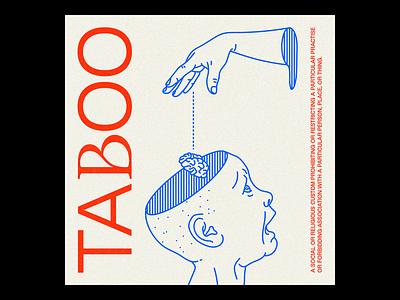 TAᏰOO NFT outline nftart nft taboo poster brutalism line red minimal illustration type typography graphic design