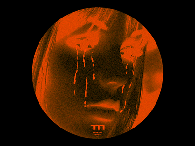 ▌▌▌ (SULLEN-1) portrait sullen crying tears brutalism red line minimal typography type graphic design
