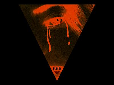 3҉3҉3҉ (SULLEN-3) noise triangle gradient sullen angel tears red minimal type graphic typography design
