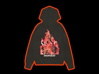 'SELF-DESTRUCTIVE NEVER FELT SO GOOD' hoodie for Drop Dead hoodie clothing merchandise apparel drop dead red minimal illustration type graphic typography design