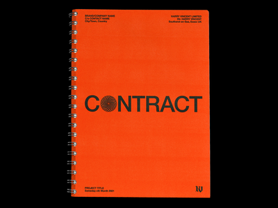 'MY CONTRACT' resources help freelance tips editorial book binder layout paperwork contract branding minimal type graphic typography design
