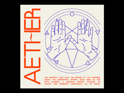 AET卄EⱤ layout purple kern magick hand aether red minimal illustration type graphic typography design