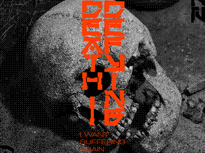 ĐɆ₳Ⱨ-ĐɆ₣Ɏł₦₲ anime retro bitmap skull death neo cyber red minimal type graphic typography design