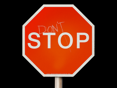 (DON'T) STOP 🛑 mock-up instructional logosign stop sign stop motivational minimal type graphic typography design
