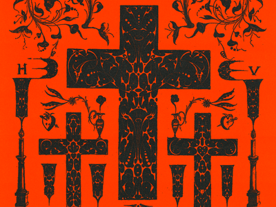 𝐋𝐈𝐄𝐒 𝐅𝐑𝐎𝐌 𝐓𝐇𝐄 𝐓𝐀𝐁𝐋𝐄𝐂𝐋𝐎𝐓𝐇 poster lies christian jesus bred crucifix cross vintage red illustration minimal type typography graphic design