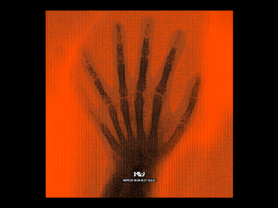 Untitled_00.08.50.00.27.9.21 cyber bitmap skeleton fingers hand x ray red minimal type typography graphic design