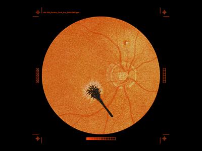 Fundus_Oculi print marks circle fundus oculi horror surgey eye brutalism red minimal type graphic design