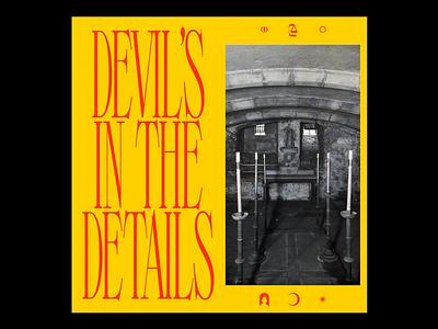 𝐃𝐄𝐕𝐈𝐋'𝐒 𝐈𝐍 𝐓𝐇𝐄 𝐃𝐄𝐓𝐀𝐈𝐋𝐒 religion altar cursed poster horror church satan red minimal type typography graphic design