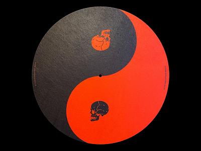 ☯️ Yin-Yang Vinyl Slipmat slipmat music vinyl print product shop balance yin yang skulls red illustration minimal type graphic design