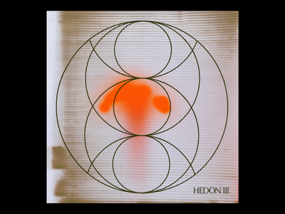 HÈÐÖN III texture glyphs esoteric circle red minimal type typography graphic design