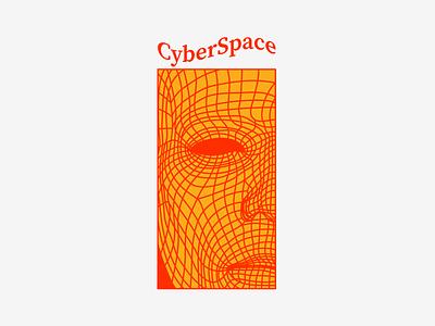 cYBERsPACE digital portrait sci fi cyberspace matrix type harryvector typography graphic line illustration design minimal