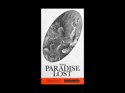 204. Paradise Lost christianity hell gustav dore paradise lost brutalism red minimal type illustration typography graphic design