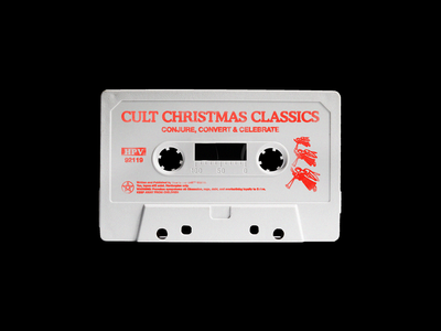 Cult Christmas Classics christmas music mockup cassette brutalism red minimal type illustration typography graphic design